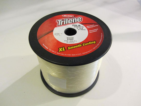 Berkley trilene monofilament almost alive lures the for Fishing line test