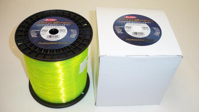 Fishing line berkley pro spec 100lb test 1500yds for Fluorescent fishing line