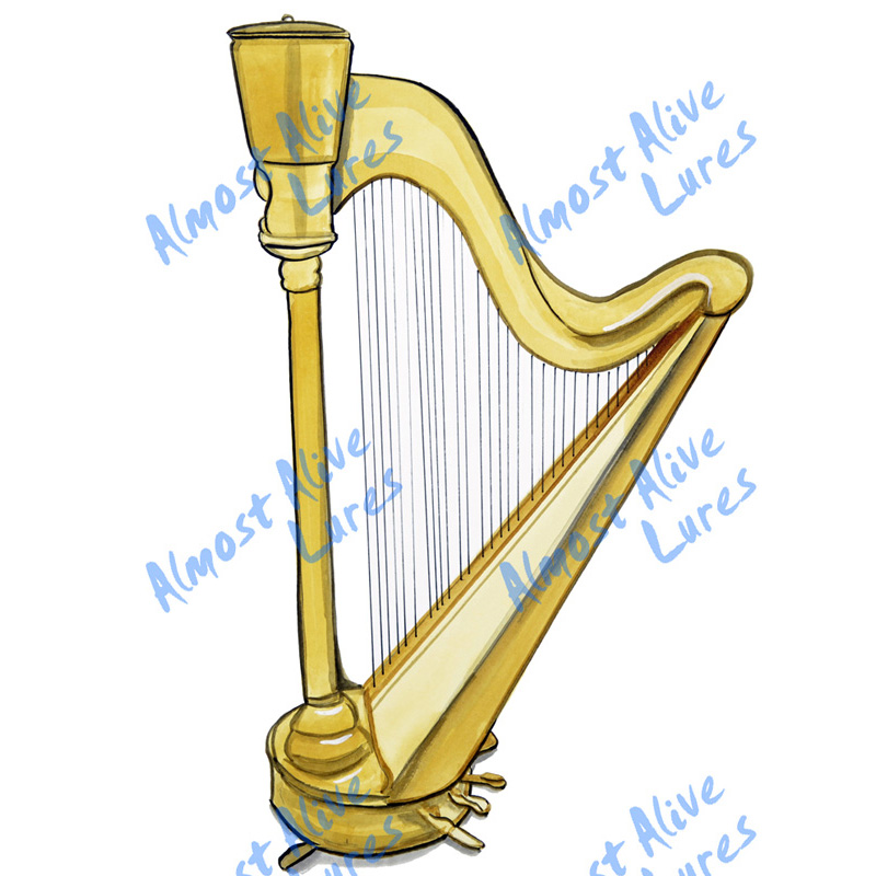 Harp - Printed Vinyl Decal