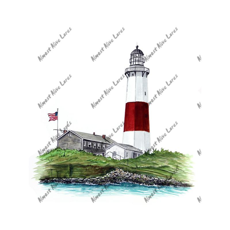 Montauk Point Lighthouse - Printed Vinyl Decal