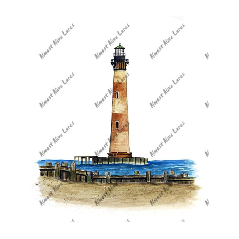 Morris Island Lighthouse - Printed Vinyl Decal