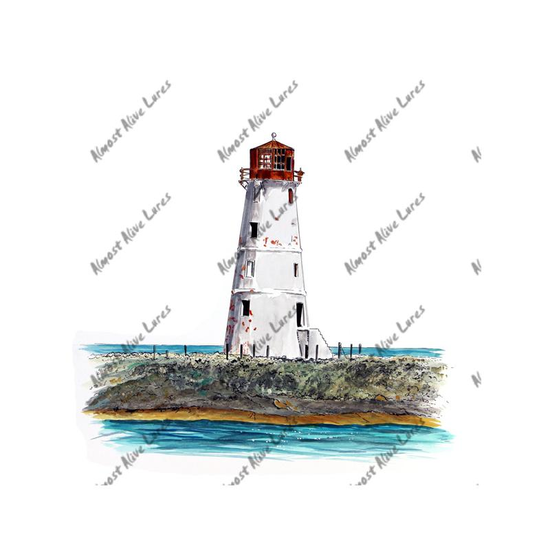 Nassau Harbour Lighthouse - Printed Vinyl Decal