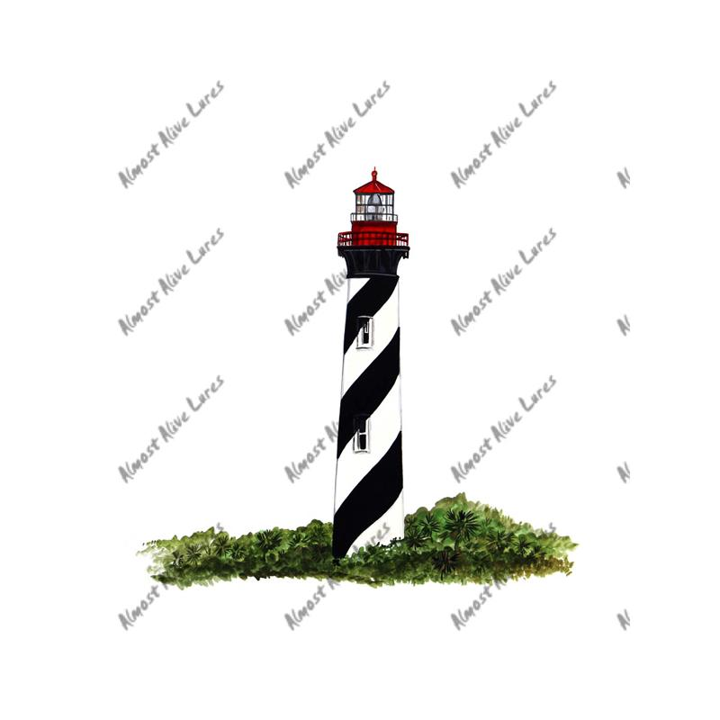 St augustine lighthouse printed vinyl decal
