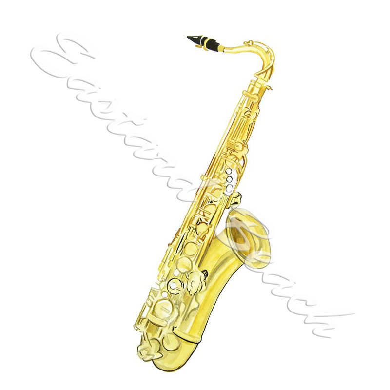 Tenor Saxophone - Printed Vinyl Decal